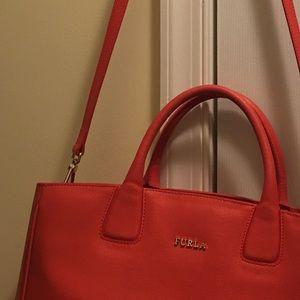 Furla Bags - Orange Furla Leather Tote Bag